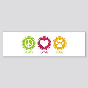 Peace - Love - Dogs 1 Sticker (Bumper)